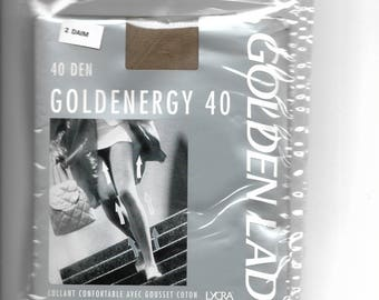 GOLDENERGY suede 40 size 2 denier tights