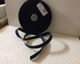 Navy Twill, 100% cotton, Blue Ribbon, 2cm wide