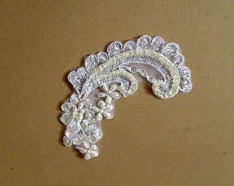 Boden-Platten und Fleurrettes mit Perlen und glitter