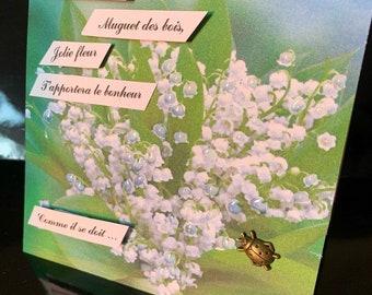 Carte Muguet Bonheur Etsy