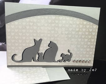 "card ""cat family"""