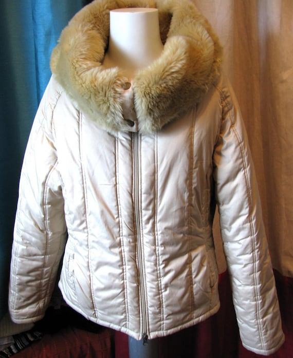 Short winter jacket/ warm winter jacket/ faux fur