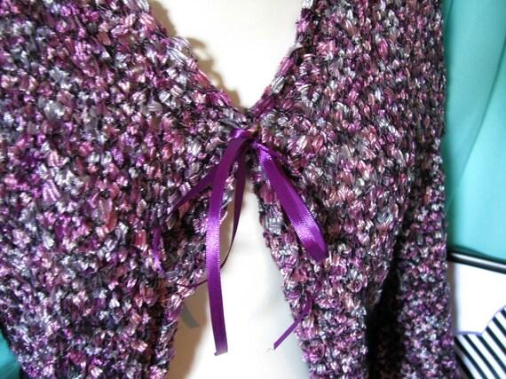 Vintage clothing/woman vintage bolero/purple bole… - image 5