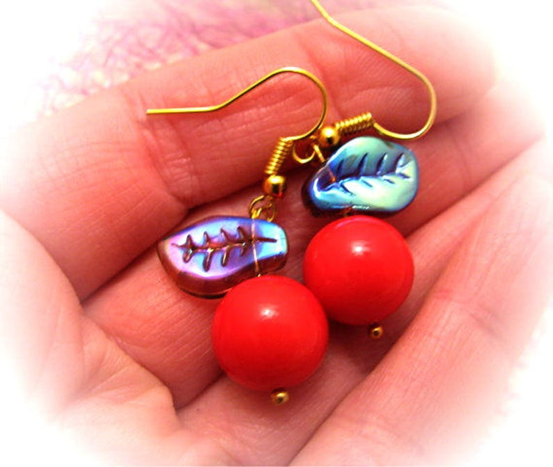 028cdcc6a2b86 Cherry Earrings Harajuku Earrings Kawaii Earrings Lolita Earrings Cherry  Earrings Fairy kei Earrings Sweet Lolita Earrings Funny Earrings