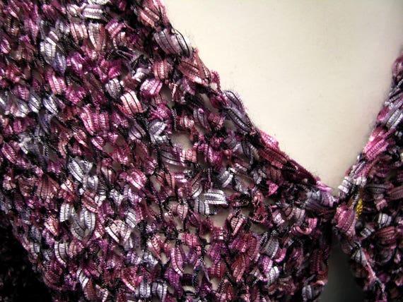 Vintage clothing/woman vintage bolero/purple bole… - image 3