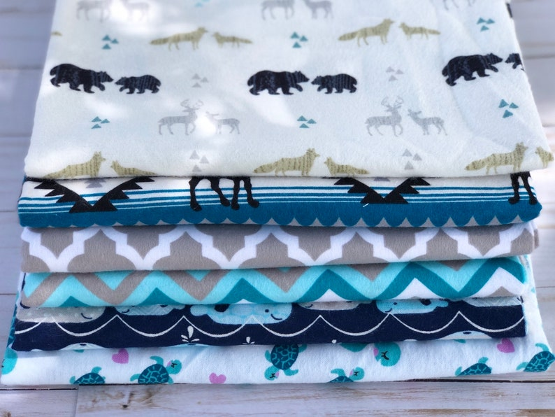 Blue and white tribal print receiving blanket bear print soft flannel baby boy blanket baby shower gift