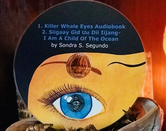 Audiobook/Song CD of children's book, Killer Whale Eyes