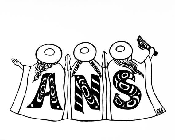 Alaska Native Sisterhood design on tees