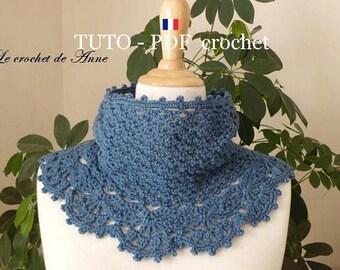 Pdf Crochet Tour De Cou De Style Victorien Orné Dune Etsy