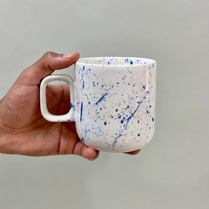 Ceramic Mug (Pottery, cup, stoneware, handmade, coffee, matte, cup)