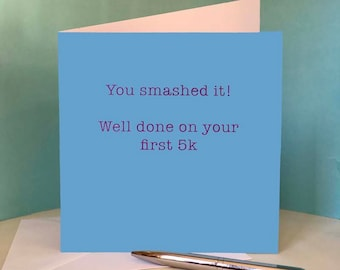 Well Done on 5K Race  - Greetings Card for Runners / Running Friend