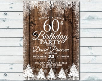 60th birthday invitations etsy