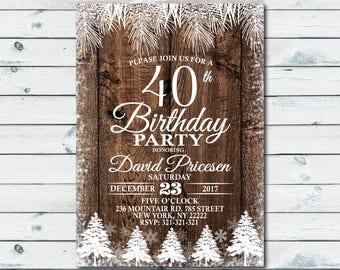 40th birthday invitation for men etsy 40th birthday invitations christmas birthday party winter elegant invitation christmas invitation holiday party digital printable 1093 filmwisefo