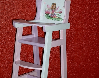 High Chair for Doll or reborn-handmade wooden