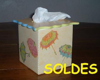 Handkerchiefs, handmade box, storage tissue, wood