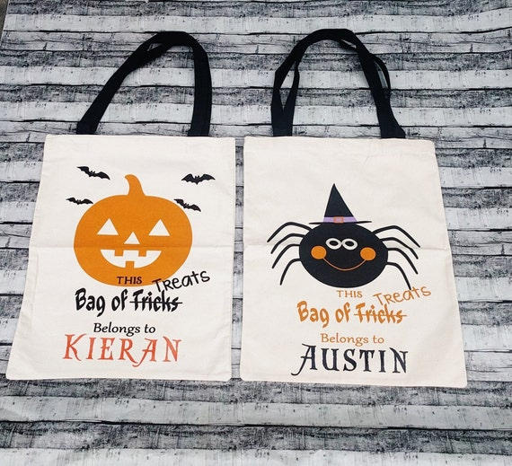 Halloween Sack Personalized Halloween Trick or Treat Bag Halloween Bag Candy Bag Treat Bag Personalized Trick or Treat Bag