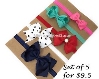 Headbands, baby girl headband set, baby bow headband, toddler girl headband, baby girl gift set, nebworn girl headband, infant girl headband