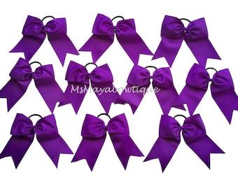 purple cheer bow etsy