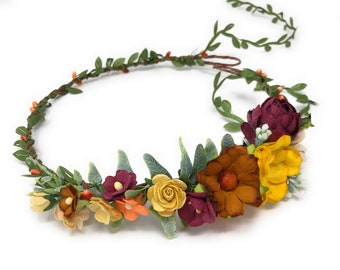 Thanksgiving Fall Couture Flower Headband Cozette Couture