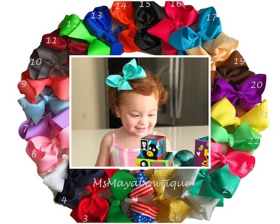 6 Inch Girl Baby Vintage Hair Accessory Knot Hair Bow Alligator Clip Hair Band