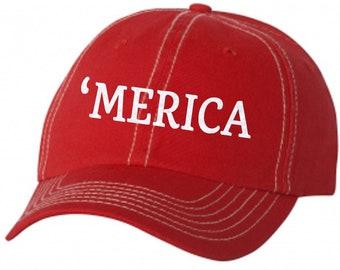 Merica Ladies Glitter Baseball Hat  572e899392