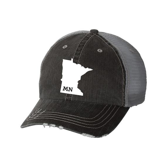 88462e84480 State of Minnesota Distressed Unisex Baseball Hat Mesh