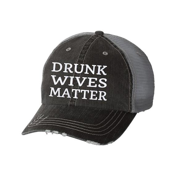 997ef13b13f Drunk Wives Matter Distressed Ladies Baseball Hat Mesh