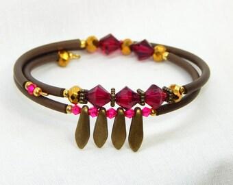 Fuschia bracelet