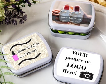 50 Personalized Custom Photo Rectangle Mint Tins - Set of 50