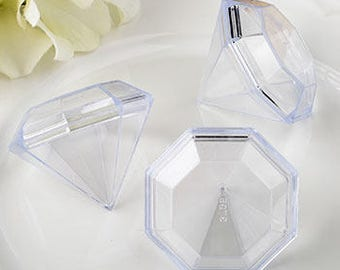 48 Diamond-Shaped Favor Boxes - Set of 48