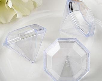 48 Diamond-Shaped Favor Boxes - Set of 48