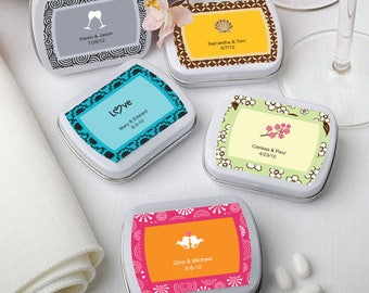 50 Personalized Rectangle Mint Tins - Set of 50