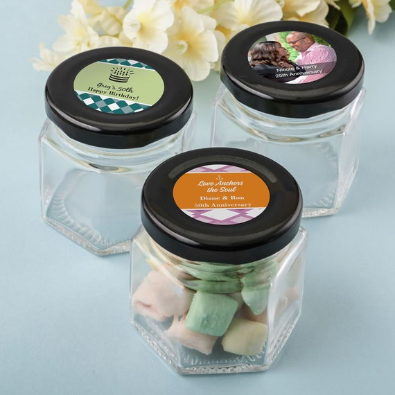 75 Perfectly Plain Small Hex Jar Set of 75