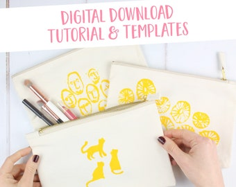 Hoop Screen Printing Tutorial & Templates Printable Download   PDF files   Learn Screen Printing   A4 + US Letter   Pattern Instant Download