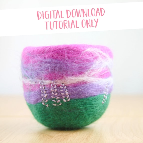 Needle Felted Bowl Tutorial & Templates Printable Download | Etsy