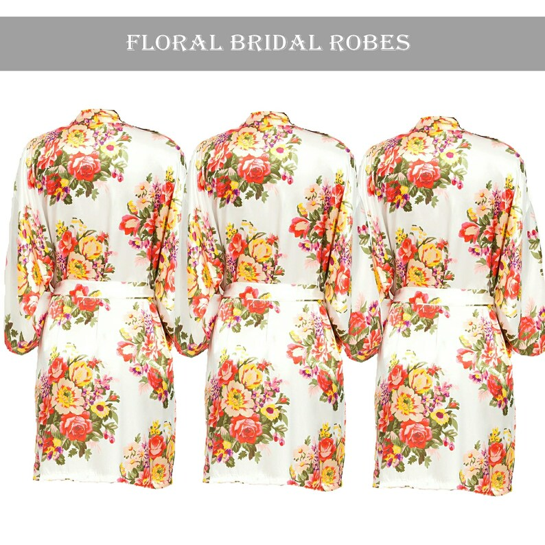b33776e3894 Personalised Bride Floral Robe Bridal Party Robes Bridesmaid