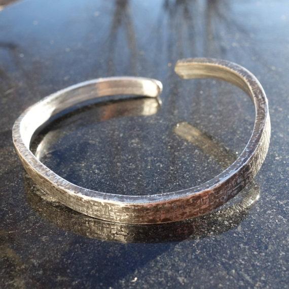 5470e1a61eb5 Oxidized 950 silver man bracelet.