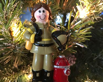 Firefighter Woman Ornament