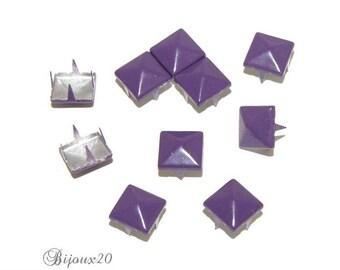10 9mm purple claw rivet customisation M00327 pyramid studs