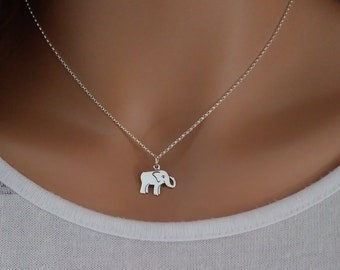 SOLID STERLING SILVER Lucky Elephant Pendant Necklace and or Earrings Chain Optional