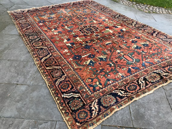 "Antique hand knotted tribal rug. 11' 4"" x 8' 5"".Wonderful soft pile and colors.100% vegetable dyed wool. Gorgeous antique colors. Soft wool."