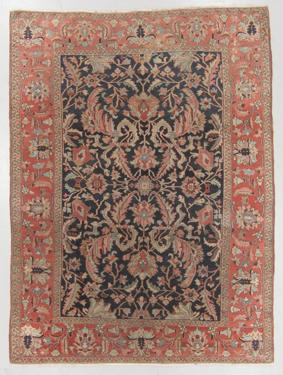 SOLDAntique Serapi, 9x 12 beautiful Pre1900 antique, All hand knotted wool, Heriz/ Serapi. Coming soonRare beautiful Heriz Serapi