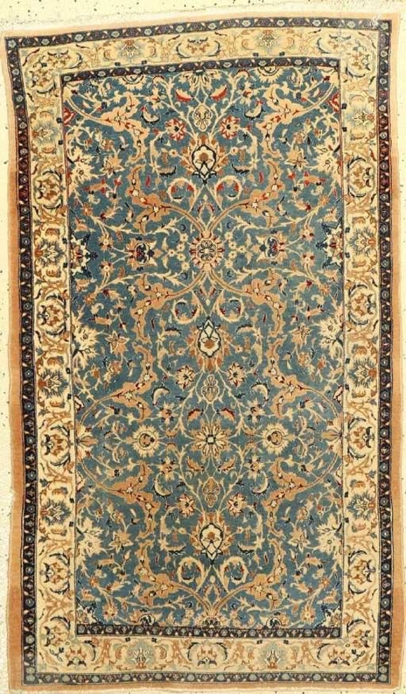 Hand knotted gorgeous vintage rug. Wool and silk. Vegetable dyed colors. 3x5 coming soon