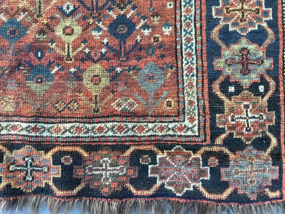 Early ( 1850 ) hand knotted tribal rug. Beautiful collectible investment.  6 x 4,  Handmade, nomadic tribal piece from the Caucus mountains.