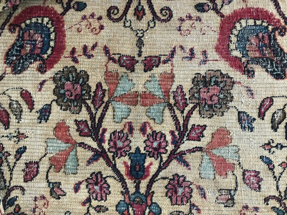 Pre 1900 Very fine handknotted room size rug,  8 x 11, Additional photos of Antique Dorokhsh listed on this page. Gently worn designer rug.