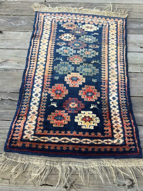 Antique Caucasian rug, RUDUCED!  c1900, gorgeous colors,pile,knotting
