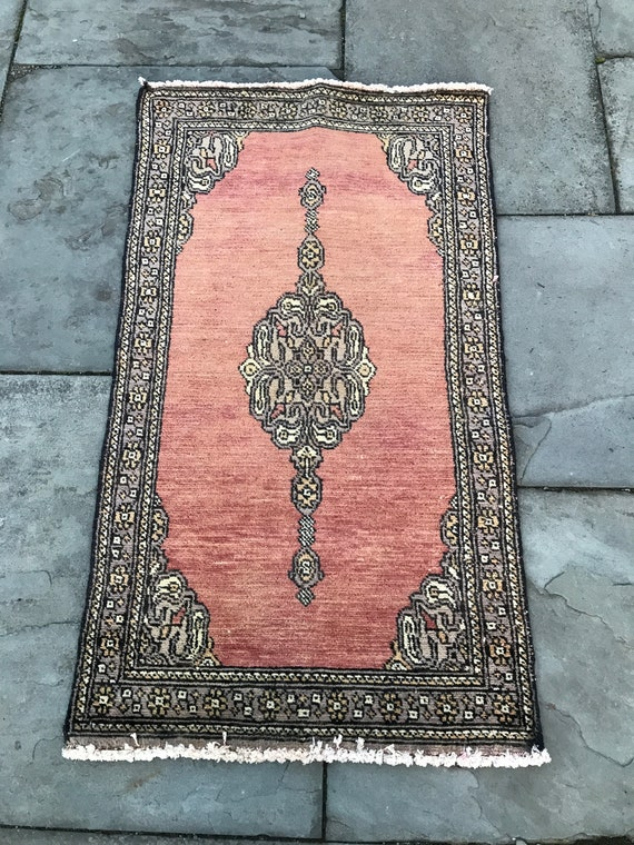 Antique Bokhara Jaldar hand knotted rug with lovely vegetable dyed colors 2 x 3.5