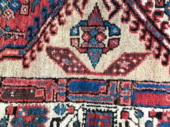 "N.W Azeri tribe hand knotted runner. Antique, wool, camel hair, vegetable dyes, 7' x 3'2"", Gorgeous colors, handmade near Heriz & Bakshaish"