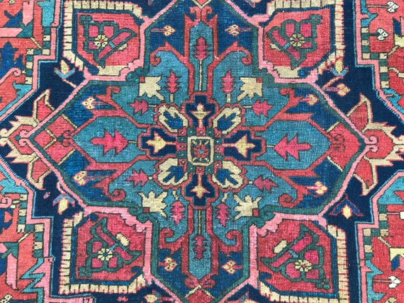 SOLD Antique Heriz 11x8  Beautiful, great price . not busy, Great organic colors Hand knotted
