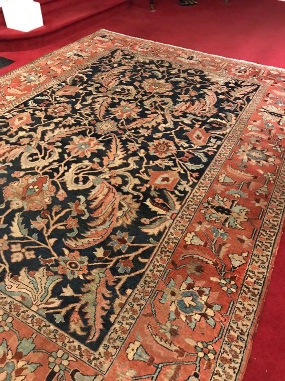 Antique Heriz Serapi. 9x 12, beautiful tribal rug. Highly collectible. Serapis are some of the most sought after rugs. All wool veg. dyes